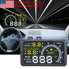 "Universal 5.5"" Car HUD Head Up Display OBD II OBD2 LCD Speedometer Speed Warning"
