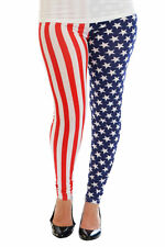 New Ladies Leggings Plus Size Women American Flag Print Full Length Nouvelle