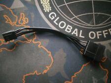 Corsair Molex to FDD Floppy cable - 10cm - flat black cable