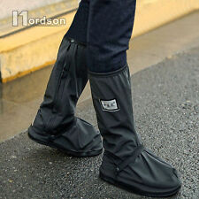 Motorcycle waterproof rain boots covers Non-slip waterproof rain shoes cover L