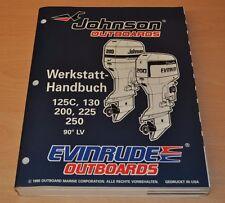 Johnson EVINRUDE ED 90° LV 125 - 250 PS Außenbordmotor Werkstatthandbuch OMC
