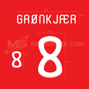 Denmark Home World Cup 2010 PU Football SOCCER NAME NUMBER PRINT
