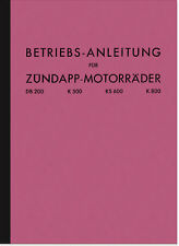 Zündapp DB 200 K 500 800 KS 600 Bedienungsanleitung Betriebsanleitung Manual