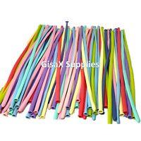 100 Pcs Multicolor Pastel Latex Balloons Candy Macaron Twisting Balloons