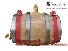 Botte Botti barilotto legno cane San Bernardo 0.5 litri rubinetto ottone