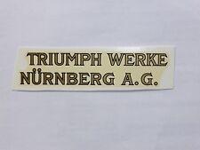 TRIUMPH DROITE inscription décalque décalcomanie à eau 32802t 95 x 21mm Or