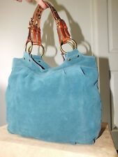 Fossil genuine leather & suede handbag/hobo tote New