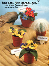 Knitted Pot Plants & Cacti Unusual Gift ~  DK Knitting Pattern