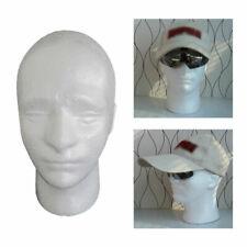 Male Foam Mannequin Head Model Manikin Hat Wig Glasses Display Stand Rack White