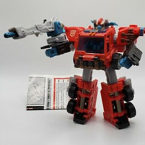 Transformers Inferno Energon Combat Class 2003 Instructions Complete weapon