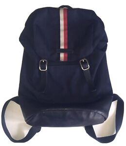 Vintage 90s Tommy Hilfiger Backpack Flag Logo Bookbag Bag Large Size