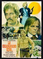 Werbeplakat Lo Chiamavano König Klaus Kinski Richard Harrison Romitelli Western