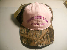 Shooter Cap ,Ladies Camo and Pink Trap, Skeet or S clays