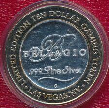 BELLAGIO HOTEL CASINO $10 SILVER STRIKE LAS VEGAS NEVADA **999 FINE SILVER**