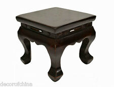 Unique Design Asian Chinese Dark Wood Small Square Stool Low Table Stand Mar9-01