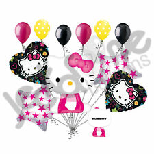 11 pc Hello Kitty Tween Balloon Bouquet Party Happy Birthday Girl Sanrio
