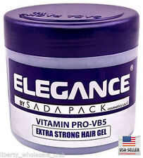 Elegance Extra Strong Protection Medium Hold Hair Gel Pomade Wax 17.6oz / 500ML