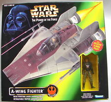star wars POTF A wing fighter MISB sealed box A wing pilot  1997 ROTJ   317