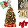 Christmas Tree Charms Decoration Ornaments Ribbon Bows Gold Party Home Decor US