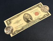 1953 $2.00 Legal Tender & SILVER Walking Liberty & Kennedy Half OLD COINS!!