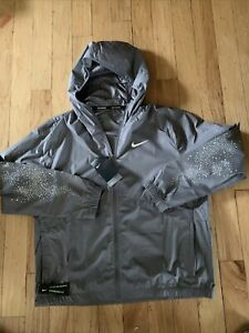 Nike  BV4723-056 Womens Gray Running Fitness Workout Athletic Jacket XL, New Tag