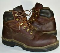 """Wolverine Mens Raider 6"""" Soft Toe Work Boots W02421 Brown Leather Size 12 M"""