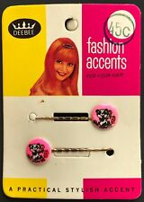 Vintage Hair Pins - Pair of Soft Pink Panda Bear Bobby Pins