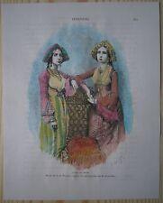 1883 Reclus print JEWISH WOMEN OF COCHIN (KOCHI), KERALA, INDIA (#56)