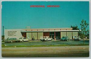 Springdale Arkansas~Scenic View~US Post Office~Vintage Postcard