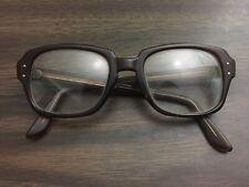 Vintage USS KEYHOLE Brown Plastic Glasses Eyeglass Frame Hipster 50 20 4.5 5.75