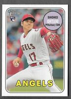 SHOHEI OHTANI 2018 Topps Heritage High Number SP ACTION Variation #600 ANGELS RC