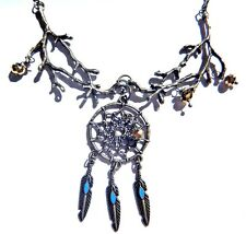 DREAMCATCHER & BRANCHES NECKLACE gold turquoise bronze bohemian nature pagan #3D