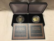 2-1 OZ Matching COA -Predator Series Crocodile & Spider 24K BLACKOUT COLLECTION