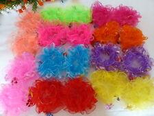 20pcs 10 Colors LACE HAIR SCRUNCHIE PONYTAIL ELASTIC GYM SPORT DANCE SCHOOL