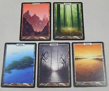 MTG Unhinged Land Complete 5 Card Set Island Swamp Forest Plains Mountains Lot
