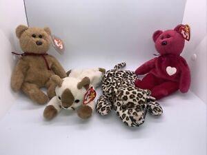 LOT OF 4 TY Beanie Babies all with hang tags