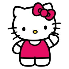 "Hello Kitty Iron On Transfer 5"" x 6"" for WHITE / LIGHT Fabrics"