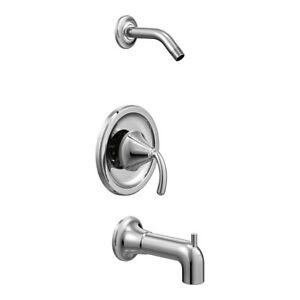 Moen TS2143NH Icon Posi Temp Tub & Shower Trim Kit less Valve Chrome