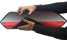Placa V20 ABS Homologada. Señal V20 portabicicletas. Ojales y protección trasera