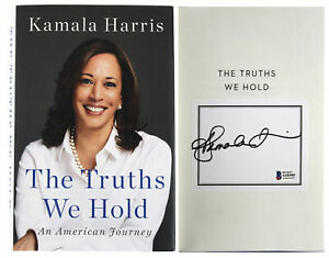 Kamala Harris Authentic Signed The Truths We Hold Hard Cover Book BAS #AA03403