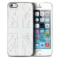 Coque Housse Etui Smoothies Metallics UK Blanc Pour iPhone 5/5S/SE