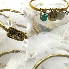 Wholesale lot Bulk 15 Pewter Bangle and Gold Tone Cuff Bracelet Made in the USA