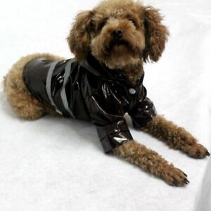 Dog Clothes Raincoat Safe Vest Puppy Hooded Dog Raincoat Reflective Pet Costume