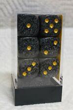 Dice - Chx 16mm Speckled Urban Camo w/Yellow Pips - 12/Box - Hmmm, Urban Sprawl?