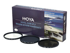 HOYA Digital Filter Kit II 37, 49, 52, 55, 58, 62, 67, 72, 77, 82mm UV, ND8, CPL