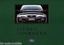 Prospekt Ford Sierra 4x4 Cosworth 7 91 Autoprospekt 1991 Auto PKWs broschyr bil