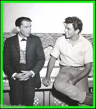"""FRANK SINATRA & FABIAN in the Set of """"Can-Can"""" Original Photo w/caption - CANDID"""