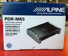 ALPINE PDR-M65 AMP MONOBLOCK 650W MAX SUBWOOFER AMPLIFIER CLASS-D PDRM65 SUB NEW