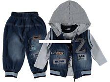 Baby Jeans Set Hose, Weste, Shirt  , Anzug 3 Teile Gr. 80