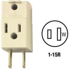10 Pk Do it Ivory 15A 1-15P Electric Three Outlet Cube Adapter Tap 876531I
